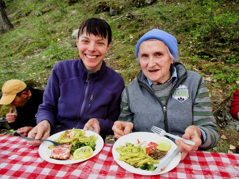 Good food and good friends on a volunteer vacation. Photo by Austin Easter.