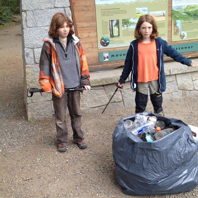 Kids pick up 45 lbs of trash