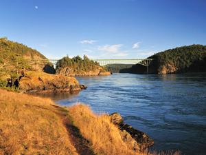 View of the Bridge Deception Pass State Park