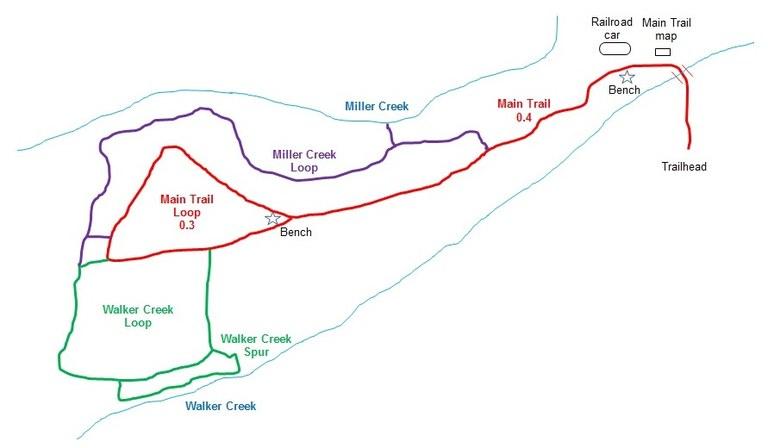 map of Walker preserve