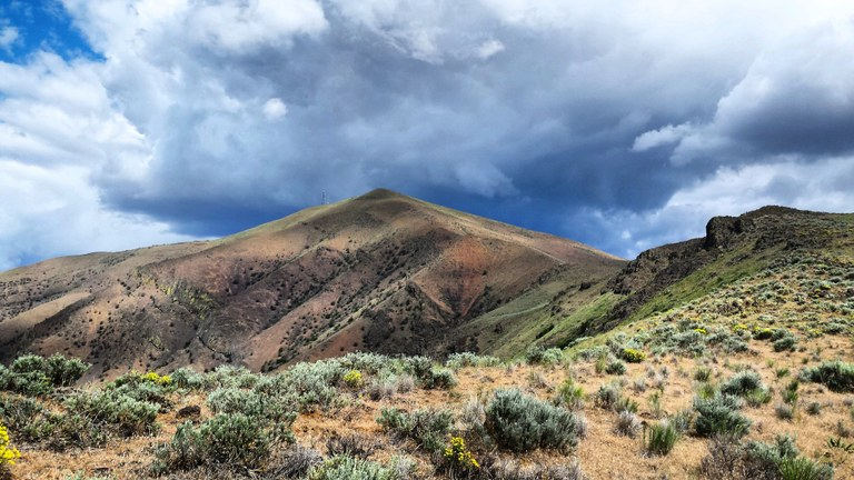 Baldy Mountain from a distance by PiperMarmalade.jpeg