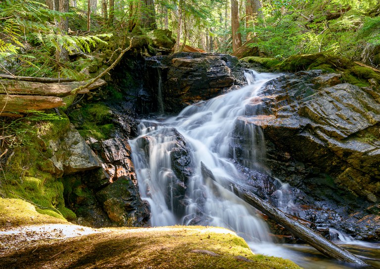 Waterfalls are a treat in the spring. Photo by Kirt Lenard.