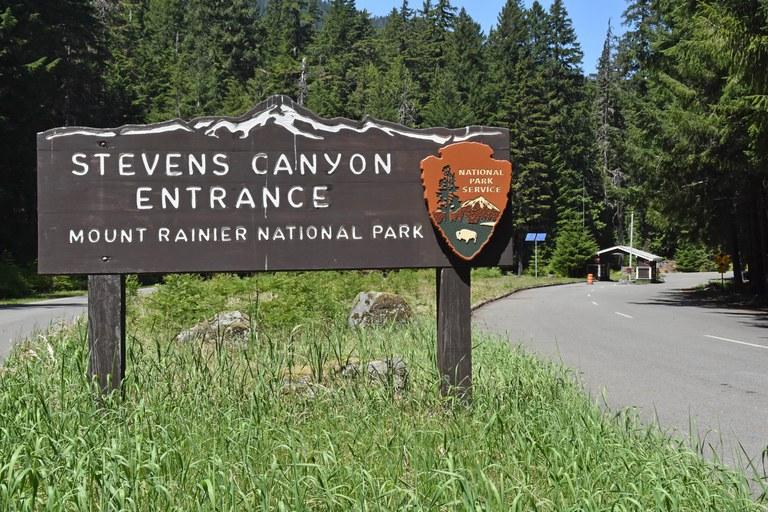 Stevens Canyon Entrance-Mount Rainier National Park. Photo Courtesy of Mount Rainier National Park.