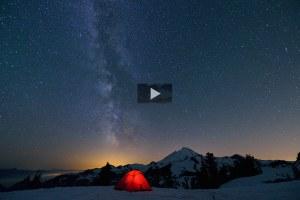 From 2012 Photo Contest Winners: Mount Baker Milky Way by Lijuan Guo