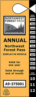 The Northwest Forest Pass provides access to hundreds of Forest Service trailheads in Washington and Oregon. It costs $30 and is good for one year from the date of purchase.