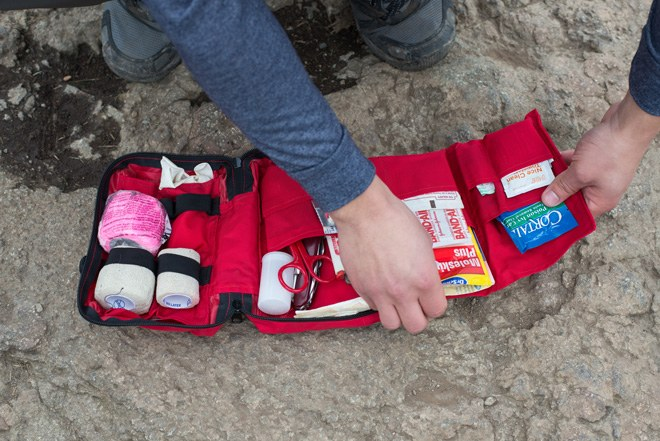 Personalize your first aid kit, and take stock of it at least once a season. Photo by Erik Haugen-Goodman