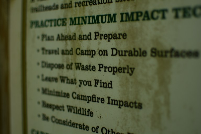 Minimum impact education
