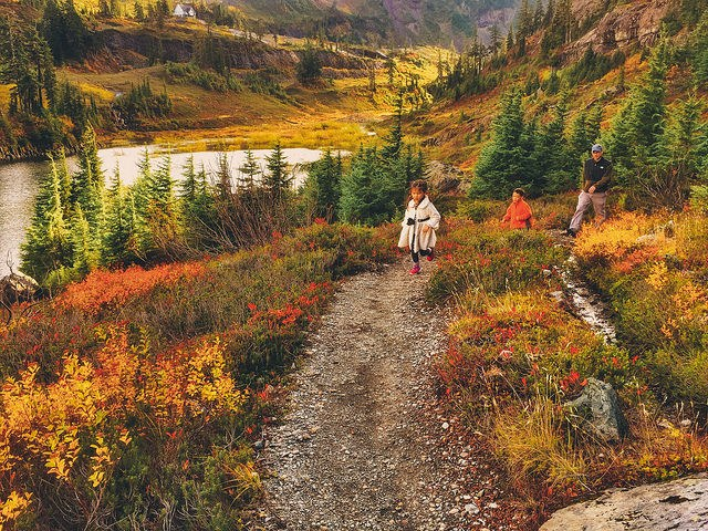 Fall hiking with kids. Photo by Michelle Byer.