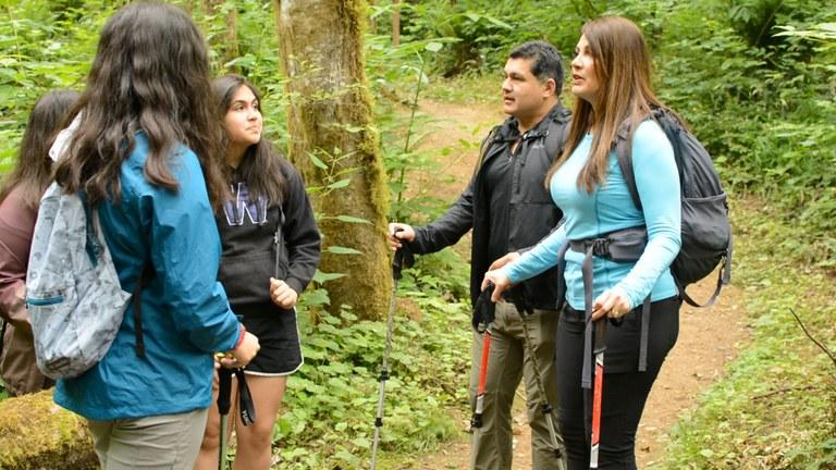 Family hiking video. Photo by Erika Haugen-Goodman.