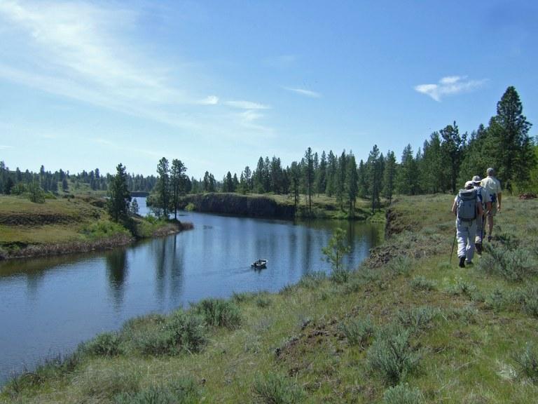 Fish Trap Lake. Photo by Bureau of Land Management.