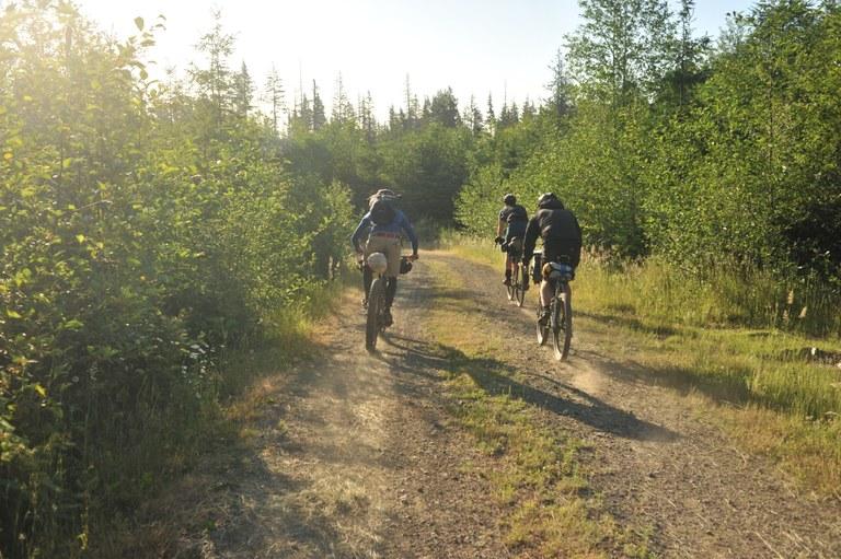 Bikepacking on road.