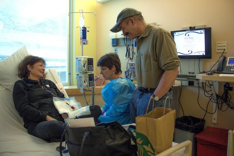 Heidi at Seattle Cancer Care Alliance. Photo courtesy Joe Hendricks.