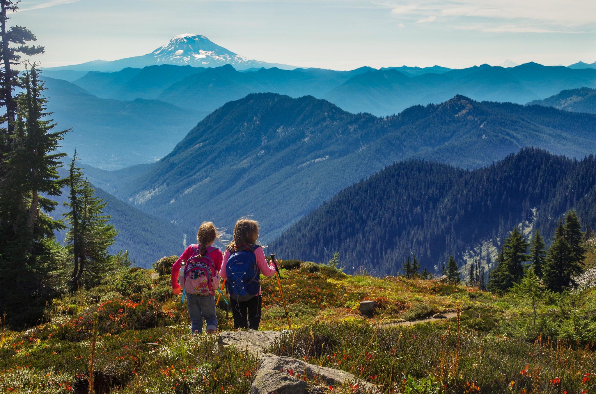 Hiking kids. Photo by Kelly Selzler.