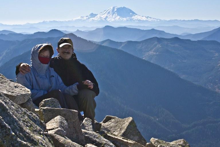Joe and Heidi at Granite Mountain. Photo courtesy Joe Hendricks.