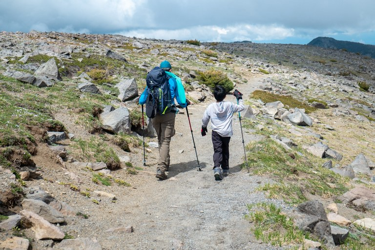 Kai and Dinakar hiking. Photo by Jim Clagett.jpg