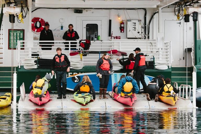 Kayaking. Photo courtesy UnCruise Adventures.