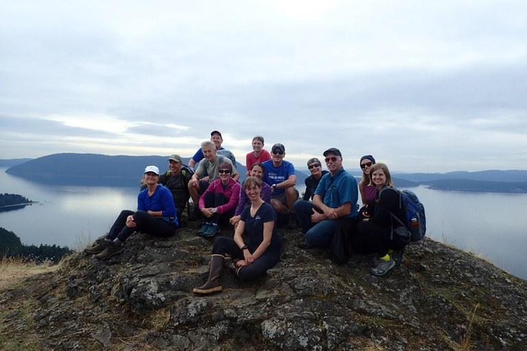Posing along a hike. Photo courtesy UnCruise Adventures.