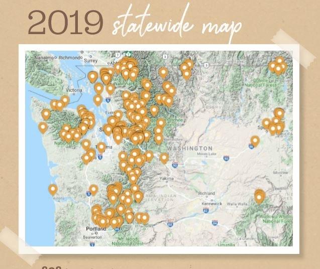2019 volunteer map