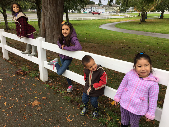 Cousins at Skykomish River Park by Mollie Rodriguez
