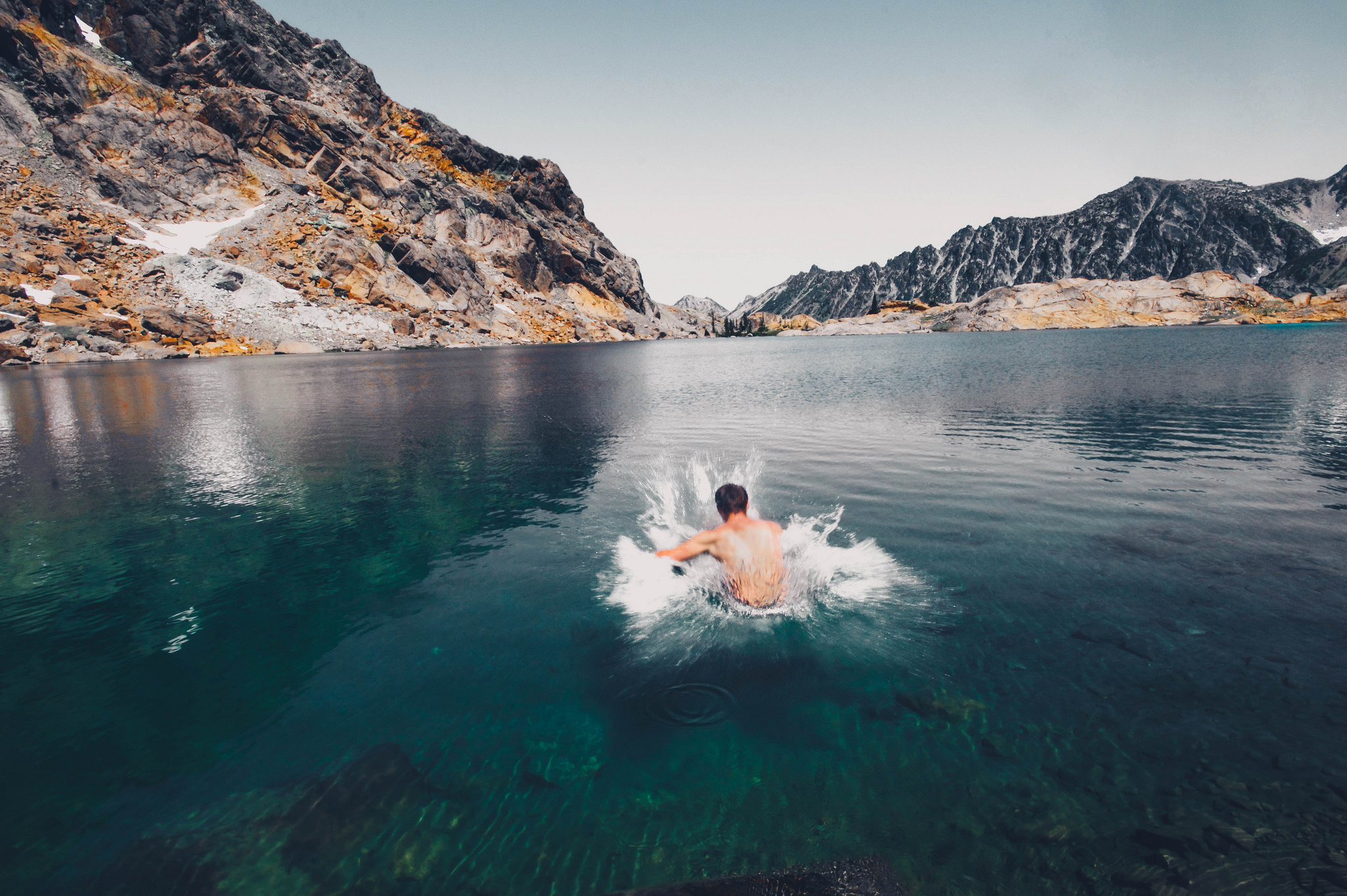 Check to see if the water source you want to swim in has an outflow. Photo by Erin Fujita.