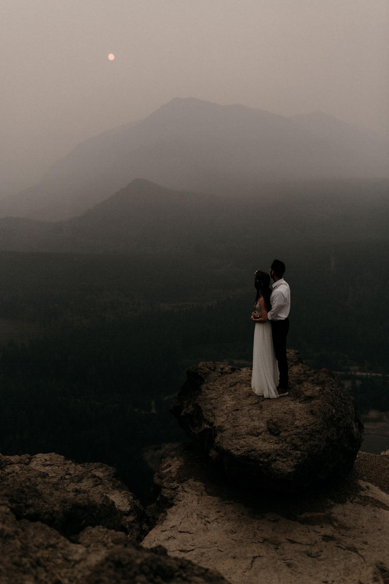 Rattlesnake Wildfire Wedding Shoot by Angella Shin