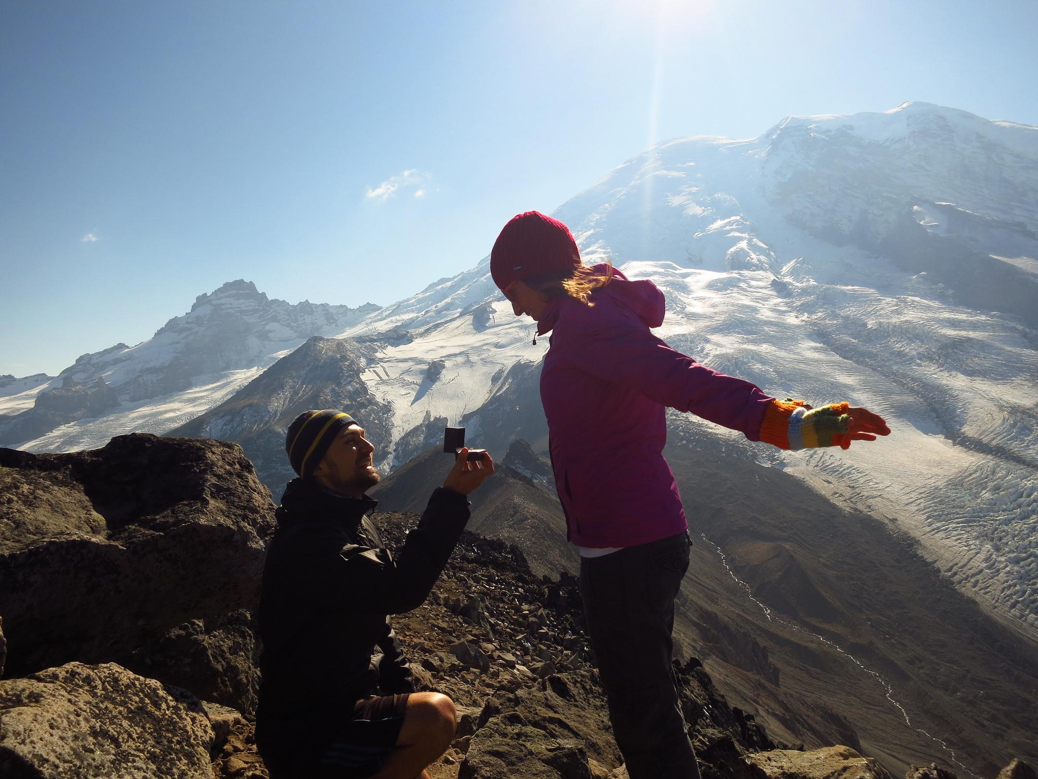 Engagement Burroughs Mt. Rainier by Simona Zamfir