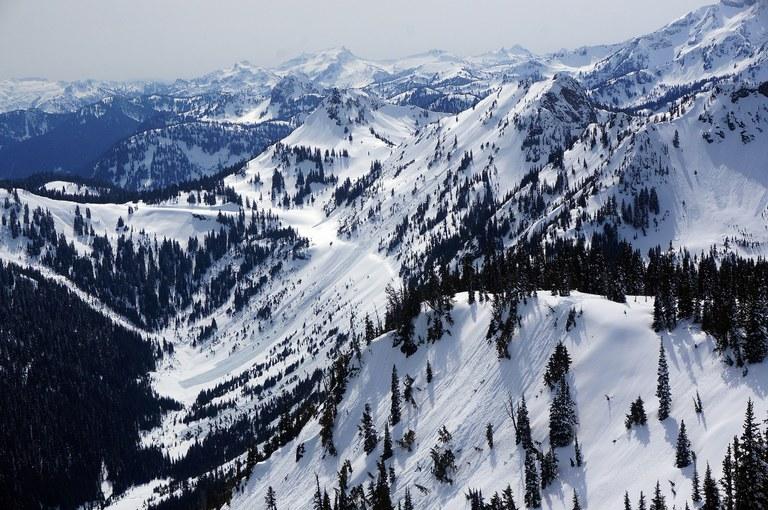 Apr 9 2018 overlooking Chinook Pass