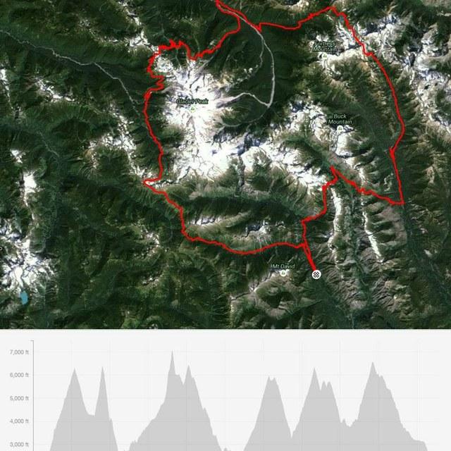 Ben and Luke Glacier Peak Gain and Map