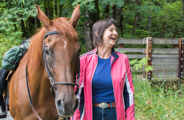 Happy horse rider erik haugen goodman