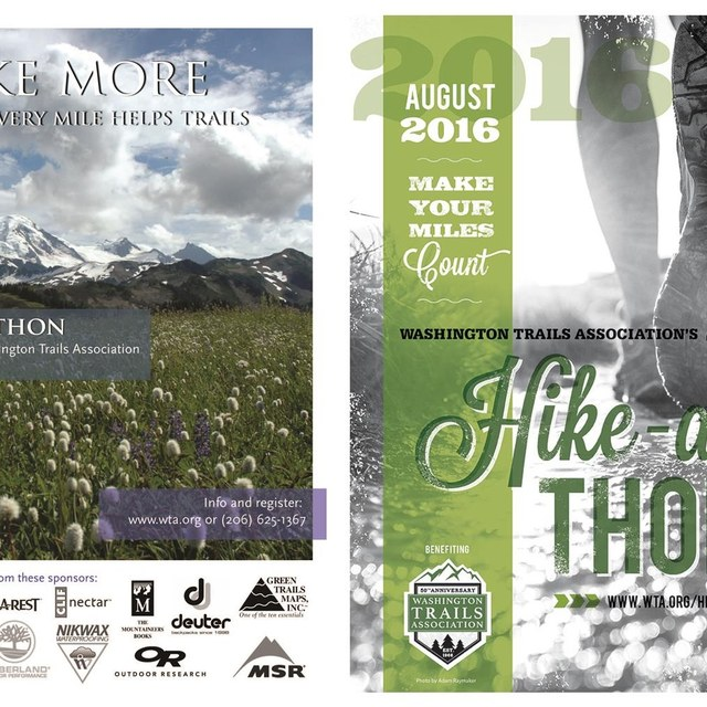 Hike-a-Thon Then & Now: posters from 2007 and 2016
