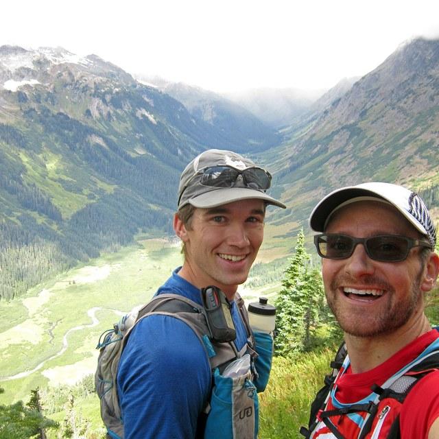 Ben and Luke Trail Running Glacier Peak