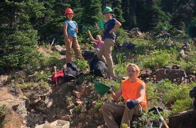 crew moves rocks at esmeralda basin elizabeth hopmann