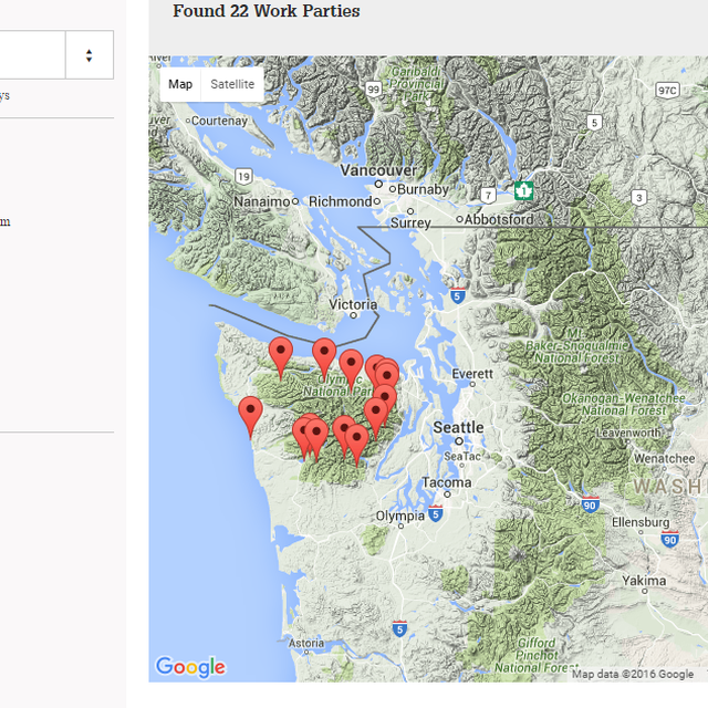 Olympic Peninsula Backcountry Trips Map view