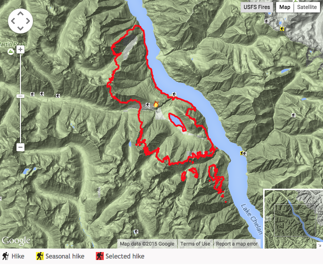 hike finder fire map