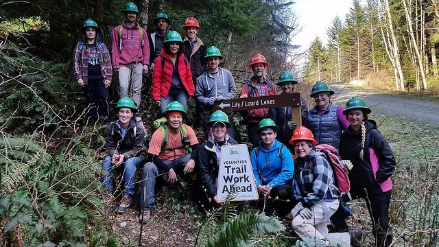 Blanchard Mountain work party 2018