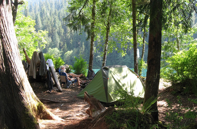 Camping at Baker Lake Karen Story
