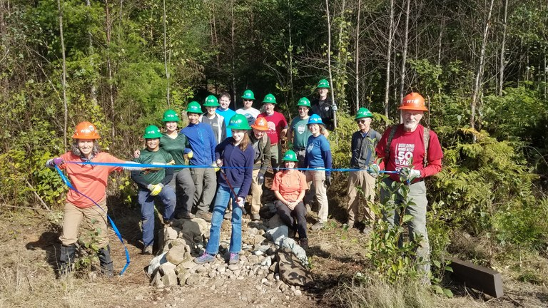 A WTA crew helped open a new section of trail at Lake Whatcom Park.