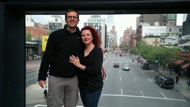 Aaron urban hiking the High Line.
