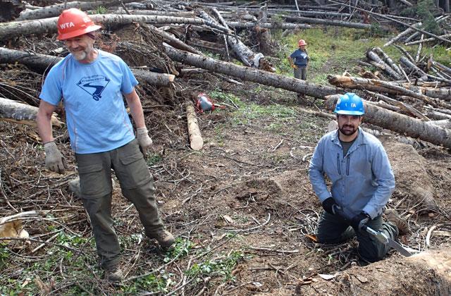 zach and bill sawing chadburn