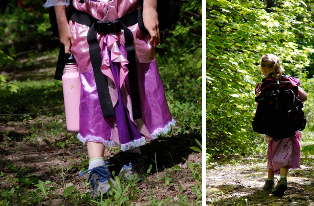 Yes, princesses wear hiking boots. Photos by Susan Gates.
