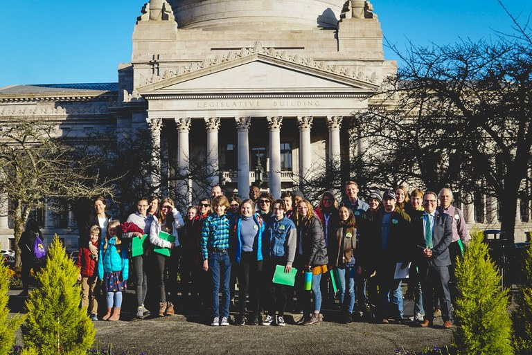 WTA youth gather in Olympia for No Child Left Inside lobby day
