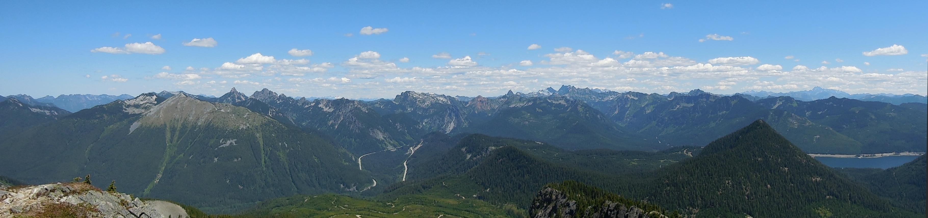 panorama from summit f silver peak