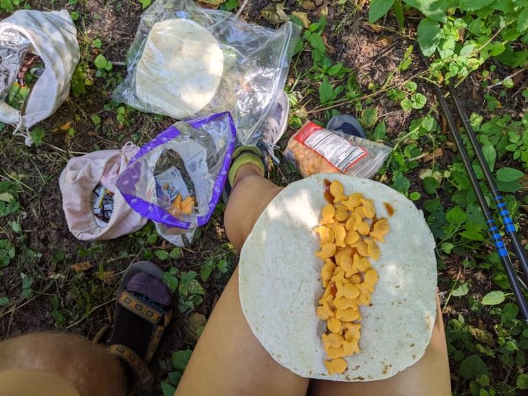Goldfish tacos by Janée Romesberg