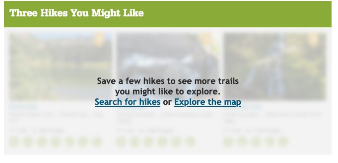 Save hikes to see 3 hikes you might like