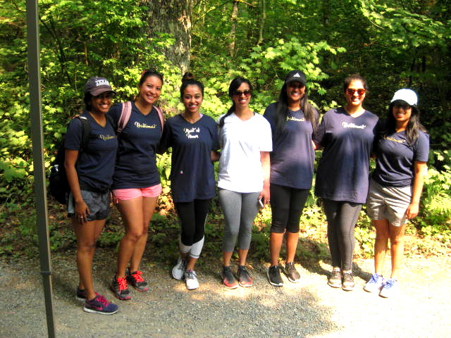 Hiking bachelorette party by Janice Van Cleve