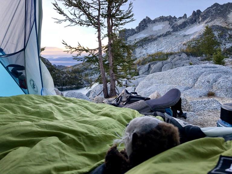 hikingotter Enchantments enjoying the view.jpeg