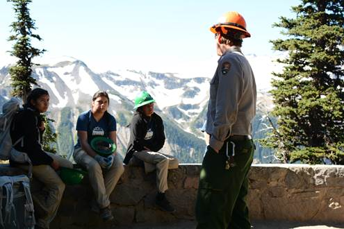 Ranger Montgomery explains the importance of building an inclusive conservation legacy. Photo by Michelle Piñon
