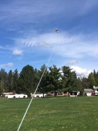 Galen flies his kite