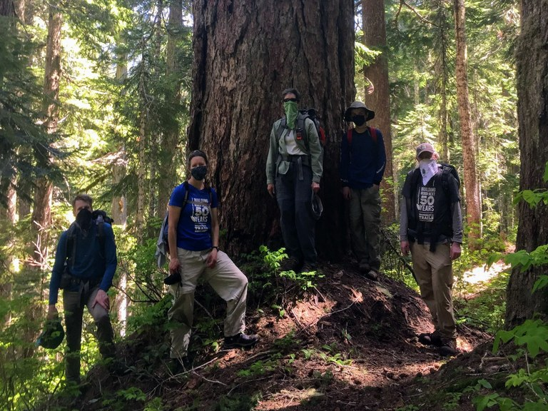 The North Fork Skykomish crew ready for a week of work.