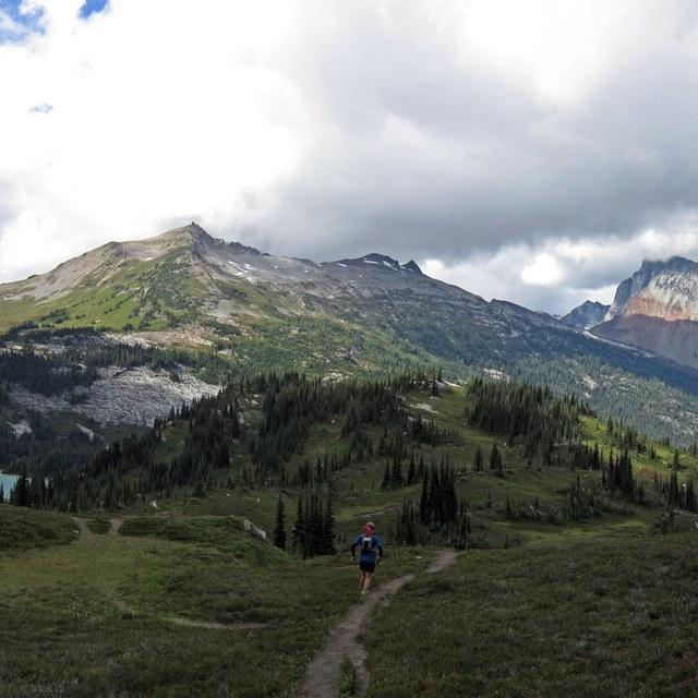 Ben running glacier peak